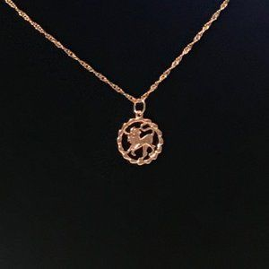 LEO NECKLACE Zodiac Gifts Rose Gold Astrology